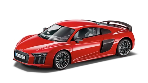 R8 Coupe limited 1:12, Dynamic rød modelbil