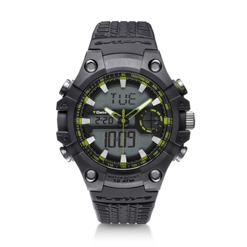 quattro Outdoor watch, grey/green