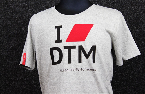 "Herre T-shirt ""I Love DTM"""