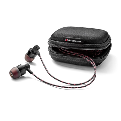 Audi Sport In Ear plugs, black/red