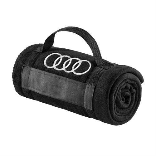 Audi Fleece tæppe, Sort, 180x130cm